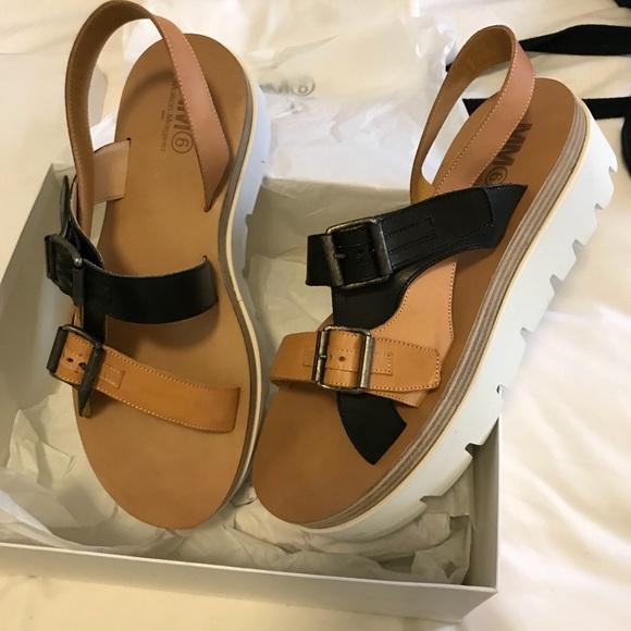 59ccc6bb9ed MM6 Maison Margiela platform sandals - NWT